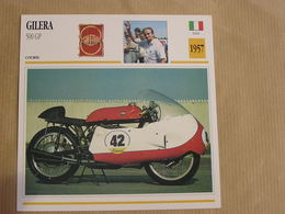 GILERA 500 GP Grand Prix Italie Italia 1957 Moto Fiche Descriptive Motocyclette Motos Motorcycle Motocyclette - Sammelkarten, Lernkarten
