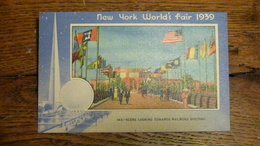 ETATS-UNIS, NEW YORK WORLD'S FAIR 1939, SCENE LOOKING TOWARDS RAILROAD BUILDING - Expositions