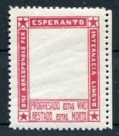 !!! PORTE TIMBRE ESPERANTO NEUF ** - Esperanto