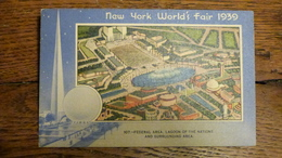 ETATS-UNIS, NEW YORK WORLD'S FAIR 1939, FEDERAL AREA, LAGOON OF THE NATIONS AND SURROUNDING AREA - Expositions