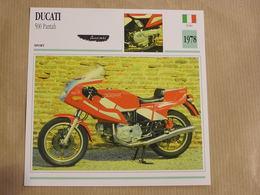 DUCATI 500 Pantah  Italie Italia 1978 Moto Fiche Descriptive Motocyclette Motos Motorcycle Motocyclette - Sammelkarten, Lernkarten