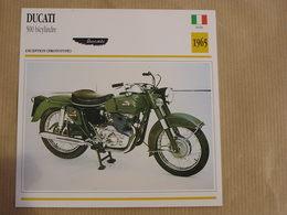 DUCATI 500 Bicylindre  Italie Italia 1965 Moto Fiche Descriptive Motocyclette Motos Motorcycle Motocyclette - Sammelkarten, Lernkarten