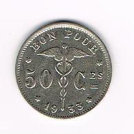 °°°   ALBERT I   50 CENTIEM 1933  FR  BONNETAIN - 1909-1934: Albert I