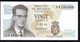 Billet De Banque De VINGT FRANCS - BELGIQUE - En Parfait état Non Plié - 20 Francs