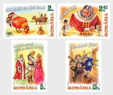Roumanie Romania 6018/21  Contes, Coq, Poule, Roi, Princesse, Cheval, Trésor - Märchen, Sagen & Legenden