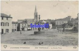 Pontgibaud - La Grande Place - 1909 - Frankreich