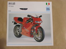 DUCATI 916 Strada Italie Italia 1994  Moto Fiche Descriptive Motocyclette Motos Motorcycle Motocyclette - Non Classés