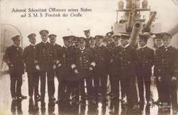 Admiral Scheer Mit Offizieren Seines Stabes Auf S.M.S. Friedrich D.Große Feldpost 1917 - Characters