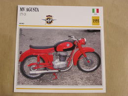 MV AGUSTA 175 CS Italie Italia 1955  Moto Fiche Descriptive Motocyclette Motos Motorcycle Motocyclette - Sammelkarten, Lernkarten