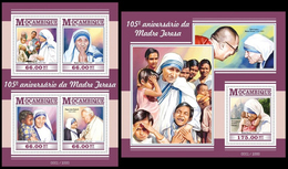 Mozambique 2015 Mother Teresa Klb + S/s MNH - Mère Teresa