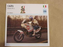 CAGIVA Elephant 900 I.E. Italie Italia 1990  Moto Fiche Descriptive Motocyclette Motos Motorcycle Motocyclette - Non Classés