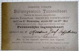 1912 Ingangskaart Tooneelbond Zachtjes Voorwaarts Evergem Gent - Tickets D'entrée