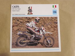 CAGIVA 860 Paris Dakar H Auriol  Italie Italia 1986  Moto Fiche Descriptive Motocyclette Motos Motorcycle Motocyclette - Sammelkarten, Lernkarten