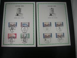 """BELG.1966 1385 1386 1387 & 1388 FDC's Filatelia Cards: """" Culturele / Culturelle """" - 1961-70"""