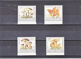 YOUGOSLAVIE 1983 CHAMPIGNONS Yvert 1860-1863 NEUF** MNH - Neufs