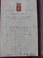 Boulogne Sur Mer - Diner En L'honneur Des Officiers Du HMS Harebell De La Marine Royale Britannique 18/10/1932. Rare - Menu