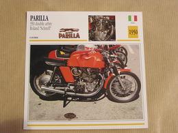 PARILLA 350 Roland Schnell Italie Italia 1950  Moto Fiche Descriptive Motocyclette Motos Motorcycle Motocyclette - Sammelkarten, Lernkarten