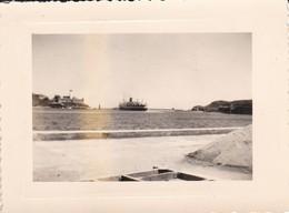MINI-PHOTO---PAQUEBOT EL MANSOUR--PORT-VENDRES-( Sorti Du Port Départ Pour La Haute Mer )--voir 2 Scans - Bateaux