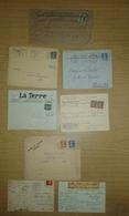 Lot De Lettres Et Cartes Affranchies Type SEMEUSE Camée Uniquement - 1877-1920: Période Semi Moderne