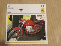 CM 250 Bicilindrica Italie Italia 1953  Moto Fiche Descriptive Motocyclette Motos Motorcycle Motocyclette - Sammelkarten, Lernkarten