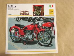 PARILLA 250 Bialbero Course Italie Italia 1949  Moto Fiche Descriptive Motocyclette Motos Motorcycle Motocyclette - Sammelkarten, Lernkarten