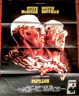 Aff Ciné Orig PAPILLON ( Franklin J. Schaffner 1973) S McQueen D Hoffman 80X60 - Manifesti & Poster