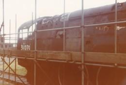 AL52 Railway Photograph - Steam Engine Being Restored - Trains