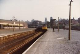 AL52 Railway Photograph - Diesel Locomotive With Train At Railway Station - Trains