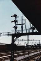 AL52 Railway Photograph - Railway With Signal Bridge - Trains