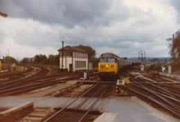 AL52 Railway Photograph - Diesel Train Passing A Signal Box - Trains