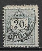 UNGHERIA 1874-76 FRANCOBOLLO MAGYAR KIRPOSTA YVERT. 17 B DENT.13X11 E MEZZO USATO VF - Ungheria