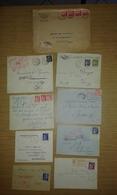 Lot De Lettres Et Cartes Affranchies Type PAIX Uniquement - Marcophilie (Lettres)