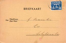 1938 Briefkaart Utrecht-Station Naar Schildwolde (Zomerkampen) - Periode 1891-1948 (Wilhelmina)