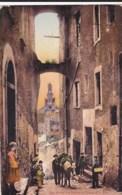 AN11 San Remo, Via Palma E Chiesa Di S. Siro - Children, Donkey - San Remo