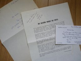 Eugène GUILLEVIC (1907-1997) Poète. CONGOURT POESIE. Autographe à Pierre Béarn - Autographes