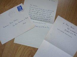Patrice DE LA TOUR DU PIN (1900-1975) Poète CATHOLIQUE. [ Robert Lorho ] AUTOGRAPHE à Pierre Béarn. - Autographs