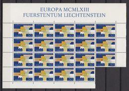 Europa Cept 1963 Liechtenstein 1v 19x** Mnh (LI245F) - Europa-CEPT