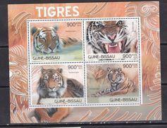 Guinea Bissau 2012 Cats Of Prey Wild Animals Fauna Year Of Tigers Klb MNH - Raubkatzen