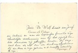 Visitekaartje - Carte Visite - Leraar College Joris De Wulf - Poperinge - Cartes De Visite