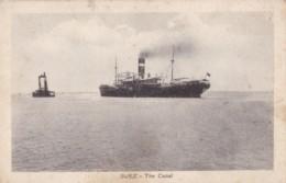 AQ24 Suez, The Canal - Steam Ship - Suez