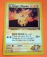 POKEMON LT SURGE'S PIKACHU 40 HP - Pokemon