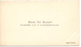 Visitekaartje - Carte Visite - Pastoor St Janshospitaal Brugge - Remi De Bandt - Cartes De Visite