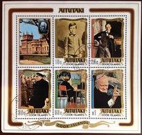 Aitutaki 1974 Churchill Minisheet VFU - Aitutaki
