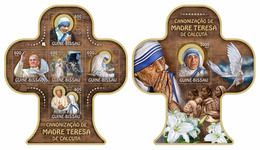 Guinea Bissau 2016 Mother Teresa Klb + S/s MNH - Mère Teresa