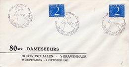 1962 Gelegenheidsstempel Damesbeurs Op Brief Met Logo Van 's-Gravenhage - 1949-1980 (Juliana)