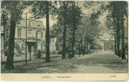 Assen 1909; Nassaulaan - Gelopen. (Nauta - Velsen) - Assen
