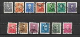 UNGHERIA 1932-37 SERIE ORDINARIA PERSONAGGI YVERT. 449-460 USATA VF - Ungheria