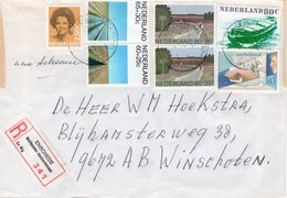 1981 Aangetekende Brief Van Enschede Wethouder Berbertstraat Naar Winschoten - Periodo 1980 - ... (Beatrix)