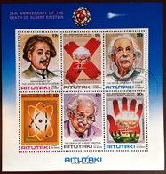Aitutaki 1980 Einstein Minisheet VFU - Aitutaki