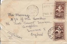 YT 787 Jamboree, Avec OBLITERATION Jamboree, 13.08.47, 1947, Sur Envellope, Scout, éclaireur. - Cartas